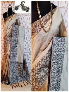 Stylish Look Multi Color Raw Silk Weaving Saree With Rich Pallu -Style Array Festival Wear, Festival Fashion, Off White Saree, Work Sarees, Silk Sarees Online, Sari Fabric, Saree Dress, Saree Blouse Designs, Indian Sarees