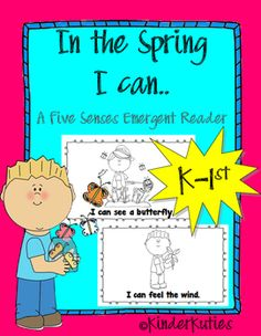 In the Spring {five senses} Sight Word Emergent Reader