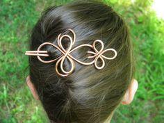 Hair Fork Hammered Copper Hair Slide Hair by ElizabellaDesign, $18.50