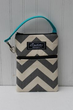 Gray Chevron 2 Pocket Padded Gadget iPhone iPod by ElisaLou, $28.00