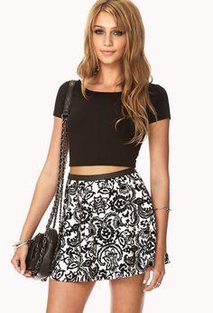 Luxe Velveteen Paisley Skirt | FOREVER21 This #Velvet skirt is a #MustHave