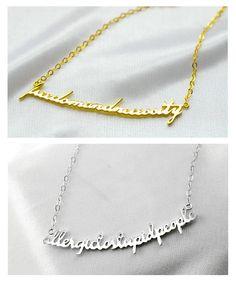 personalizado único collar con más palabras grabados - €31.97 : sarenxi.com, joyería de moda