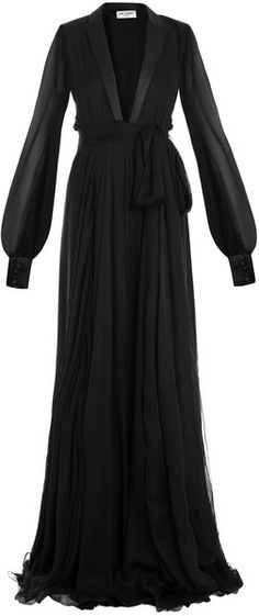 SAINT LAURENT Le Smoking Full Length Gown - Lyst