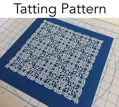 Encaje patrón  Magic Square variación de por tattingbythebay