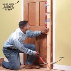 How to Replace an Interior Door: Prehung Door Replacement Learn how to hang any type of interior door. We'll show you foolproof tips and techniques to help you do a great job even if you're a beginning carpenter.