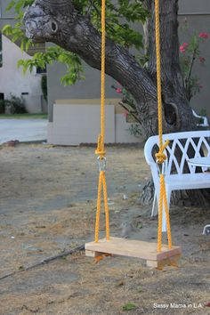 DIY Rope and Board Swing