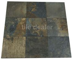 Natural Slate multicolour Porcelain Floor Tiles