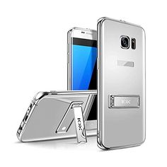 Samsung Galaxy S7 S7 Edge Phone cases electroplating mirror case cover with holder/Slim Fit Crystal Clear Scratch Resist Heavy Duty Protection Dual Layer Case (For Samsung Galaxy S7 Edge silver). Creative Electronic KXX Series phone case designed for Samsung Galaxy S7 - Verizon, AT&T, T-Mobile, Sprint, International and Unlocked Model. Made of Premium Metal Aluminum ----Looks Fashion,Luxury. 3 Colors ----- Black, Gold, Silver,Rose Gold. Easy access to all the buttons and controls…