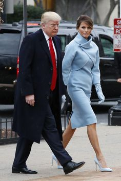 On Inauguration Day, First Lady Melania Trump wore a custom-made Ralph Lauren baby blue double-faced cashmere jacket and dress with matching baby blue pumps (Source: Footwear News / Image: REX Shutterstock). Designers Marc Jacobs and Tom Ford refused to outfit Melania Trump. Ralph Lauren also designed several of Hillary Clinton's pantsuits. And now Ralph Lauren is receiving backlash for …