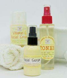 Our Natural Vitamin C Facial GIFT SET should be a part of your skin regimen! ~ Handmade by Crimson Hill Soapworks with Integrity & Quality since 2007. ~ ** VISIT OUR RETAIL SHOP IN LEAVENWORTH, KS...JUST 20 MINUTES WEST OF KANSAS CITY! **