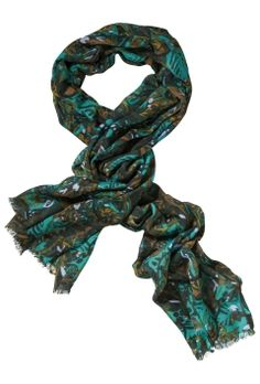 Greens | Collection | Scarf | Print | Texture | Green | Musthave