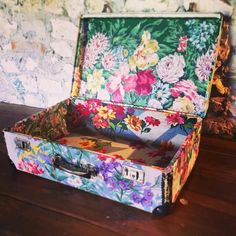 Floral suitcase from sarah moore vintage