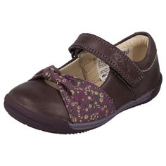 CHILDRENS INFANT CLARKS FIRST SHOES IN HEATHER - STYLE - SOFTLY NIA FST