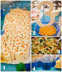 """Sea-food"" Party food ideas. Under the Sea Mermaid Birthday Party"