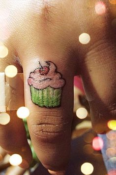 Always wanted a cupcake tattoo...Maybe this will do