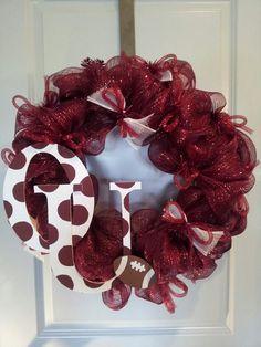 Oklahoma Sooners deco mesh wreath