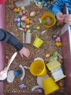 ontdekbak - pasen Montessori, About Easter, Sensory Bins, Spring, Kids Playing, Preschool, Activities, Room Set, Crafts