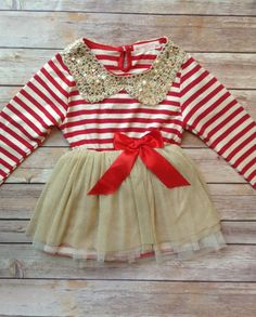 Gold dress baby girl valentine