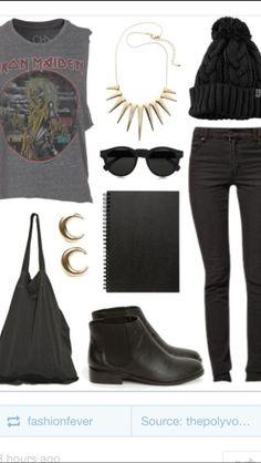rock/ grunge fashion style