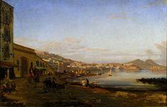 Giacinto Gigante, Marina di Posillippo. 1844. Oli sobre tela. Roma: Galleria nazionale d'arte moderna e contemporanea