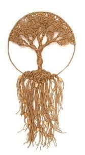 Knots _ Macramé / Knotting ____ Tree of Life ___ I don't think I could ever figure out how to make this macrame tree, but it's beautiful. Macrame Art, Macrame Projects, Macrame Knots, Macrame Jewelry, Art Macramé, Micro Macramé, Arts And Crafts, Diy Crafts, String Art