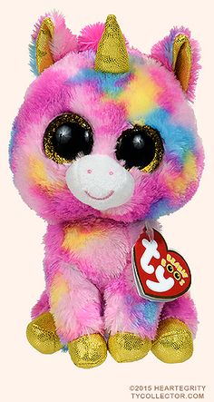 Fantasia, Ty Beanie Boos unicorn, reference information and photograph. Beanie Boo Dogs, Beanie Babies, Ours Boyds, 8 Year Old Christmas Gifts, Ty Beanie Boos Collection, Ty Peluche, Shopkins Characters, Ty Stuffed Animals, Minnie Mouse Toys