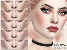 Blush in 15 colors.Found in TSR Category 'Sims 4 Female Blush'