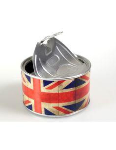 Um presente original para a decoração da casa. Relógio dentro de uma lata com iman que permite afixar o relógio em superfícies metálicas.