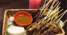 Satay or sate (pronounced /ˈsæteɪ/ SA-tay) is a dish consisting of diced or sliced chicken, goat, mutton, beef or other meats; the more ...