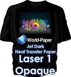 Heat Transfer Paper Laser 1 Opaque Dark Heat Press machine 8.5 x 11 50 Sheets