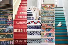 Cinco decoraciones originales para tu escalera http://www.habitamos.com.ar/ideas-creativas/como-decorar-una-escalera-facilmente.html