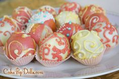 Vintage Couture Cake Pops