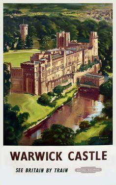 WARWICKSHIRE - Warwick Castle, Railway Posters7