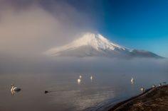Morning mist #Fuji #mist #山中湖