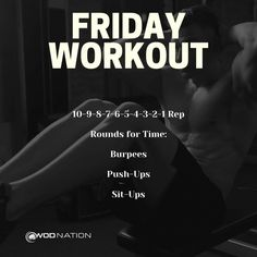 Crossfit Workouts At Home, Wod Workout, Friday Workout, At Home Workout Plan, Fit Board Workouts, Workouts Hiit, Cardio Hiit, Workout Plans, Conditioning Workouts