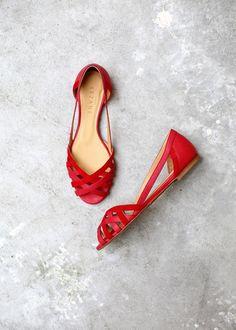 Sézane Red Flats
