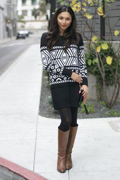 Britt+Whit| @bcbgmaxazria Sweater Dress