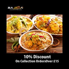 Mazza Indian Restaurant offers delicious Indian Food in Gadebridge, Hemel Hempstead Browse takeaway menu and place your order with ChefOnline. Order Takeaway, Hemel Hempstead, Restaurant Order, Indian Food Recipes, Ethnic Recipes, Food Items, A Table, Curry, Menu