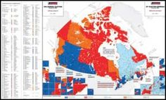 Poster:  Canada : federal electoral districts = Canada : circonscriptions fédérales. Canada, Decision Making, Social Studies, Maps, Poster, Federal, Making Decisions, Blue Prints, Map