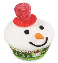 Top Hat Mini Snowman #Cupcake #Holiday