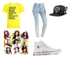 """Girls' Generation"" by k-pop21 ❤ liked on Polyvore featuring Charlotte Russe and Converse"