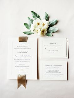 simple + elegant stationery | Photography: Marcie Meredith Photography - marciemeredith.com