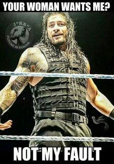 This is the sequel to Sharing My Love W/ Roman Reigns. Roman Reigns Shirtless, Wwe Roman Reigns, Wrestling Memes, Wrestling Superstars, Watch Wrestling, Le Shield, Wwe Funny, It's Funny, Funny Stuff
