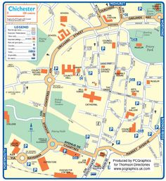 Map of Chichester created in 2011 for Thomson Directories. One of approximately 350 UK town and city maps produced royalty free. Find out more...  http://www.pcgraphics.uk.com   or read our blog...    http://www.pcgraphics.uk.com/blog/
