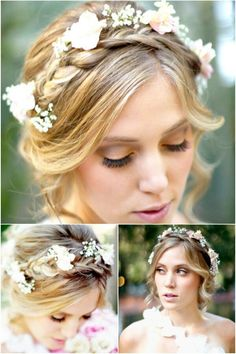 I definitely want flowers in my hair the day of my wedding
