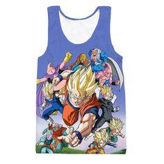 4c98a3bf869319 Angry Goku Super Saiyan God Blue Power Thunder SSGSS Tank Top