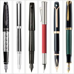 Waterman (1) Sheaffer (2) Parker (3) Faber-Castell (4) Sheaffer (5) Pelikan (6)  ~ Fountain pens.. wanna collect! haha