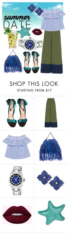 """""""#summerdate dinner for two..."""" by regina-eghie ❤ liked on Polyvore featuring Christian Louboutin, Marni, STELLA McCARTNEY, Rolex, Piranesi and Fitz & Floyd"""