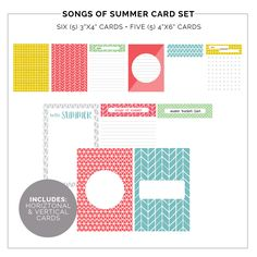 Free Songs of Summer Pocket Cards