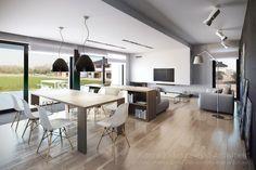 Projekt wnętrz domu jednorodzinnego w Tulcach | Architekt: biuro Poznań - projekt nowoczesnego domu pasywnego, projekty biur i wnętrz.